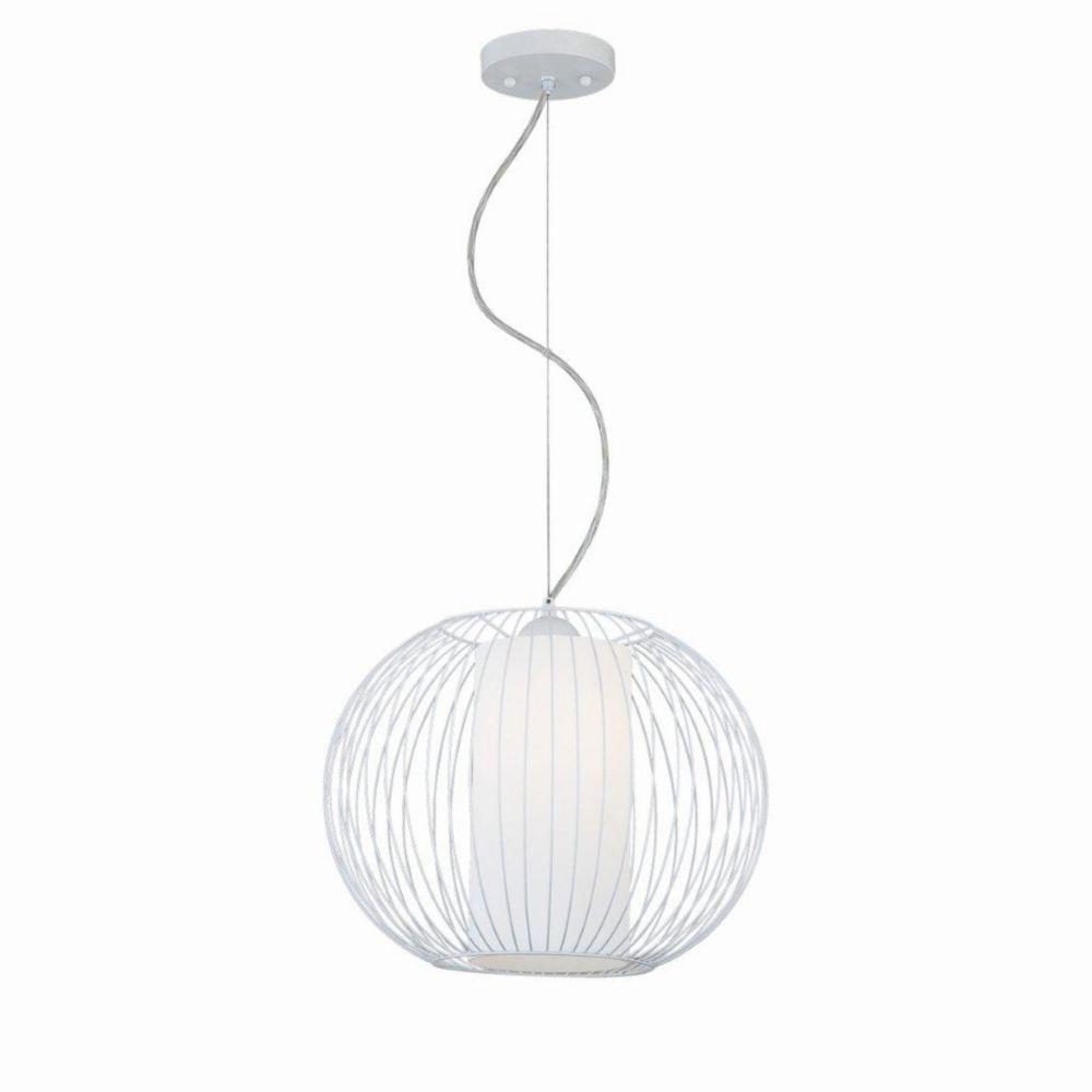 Avila Collection 1 Light Large White Pendant
