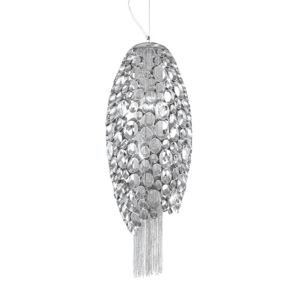 Eurofase Cameo Collection 2 Light Nickel Pendant