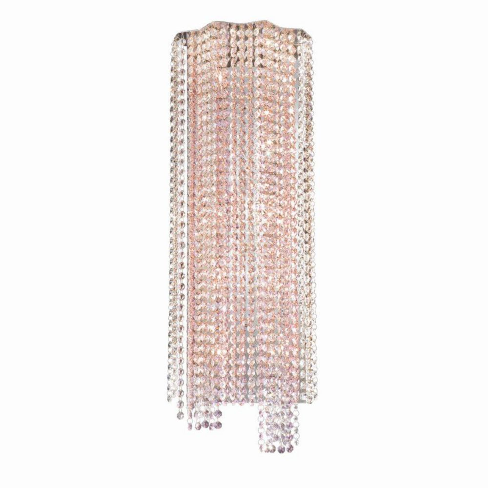 Celestino Collection 10 Light Chrome & Pink Wall Sconce