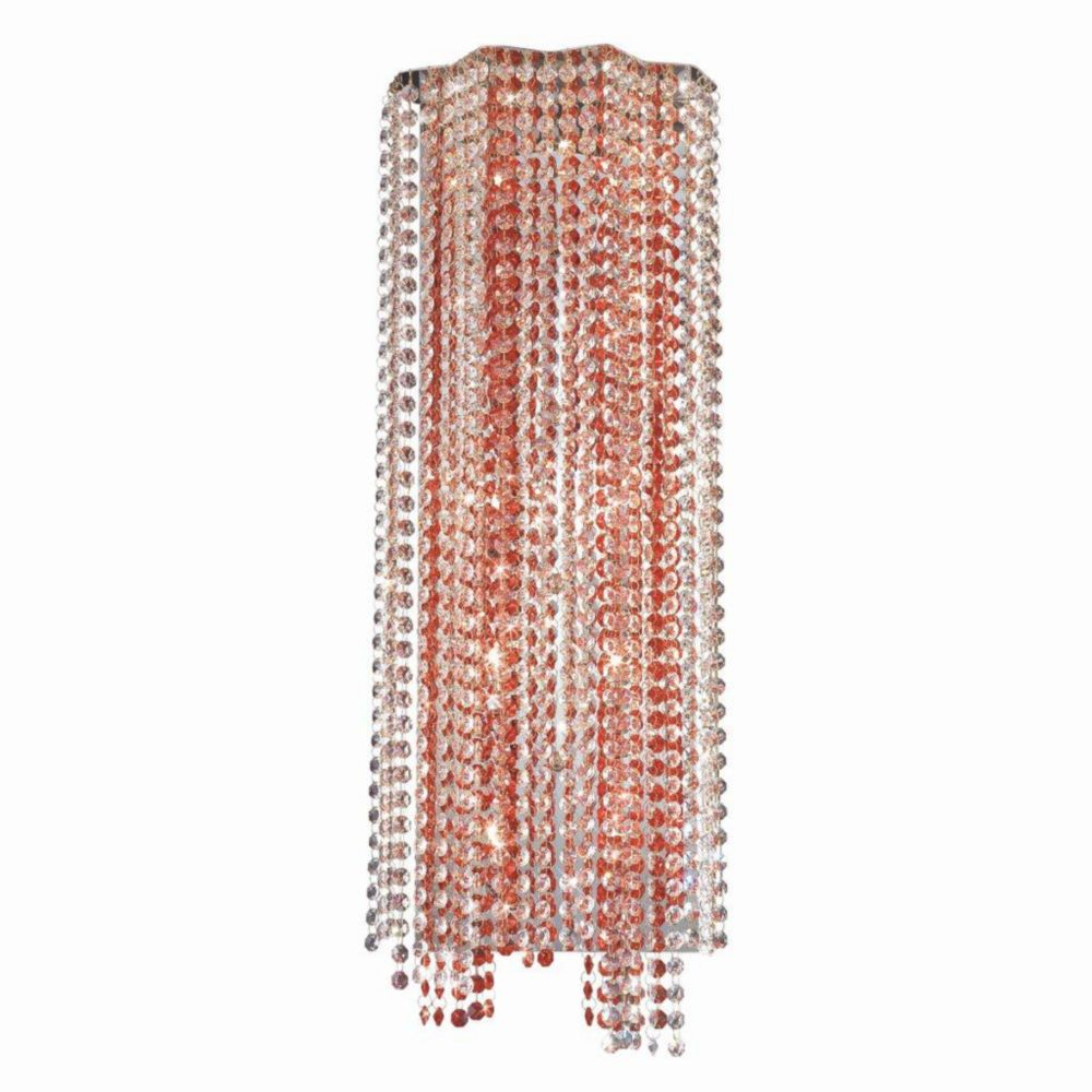 Celestino Collection 10 Light Chrome & Red Wall Sconce