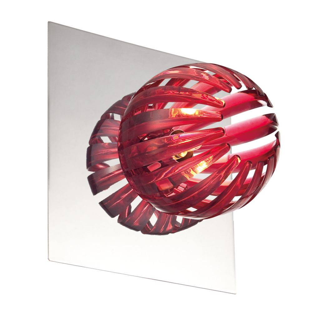 Cosmo Collection 1 Light Chrome & Red Wall Sconce 23203-020 Canada Discount