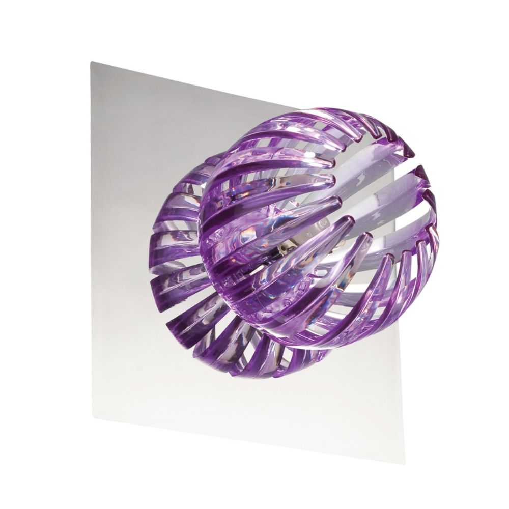 Cosmo Collection 1 Light Chrome & Purple Wall Sconce