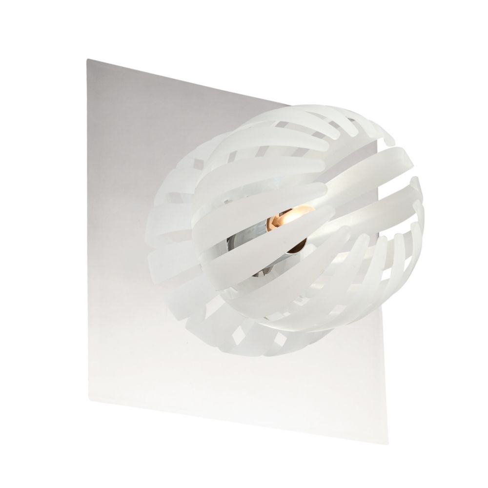 Cosmo Collection 1 Light Chrome & White Wall Sconce