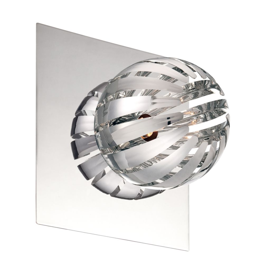 Cosmo Collection 1 Light Chrome Wall Sconce