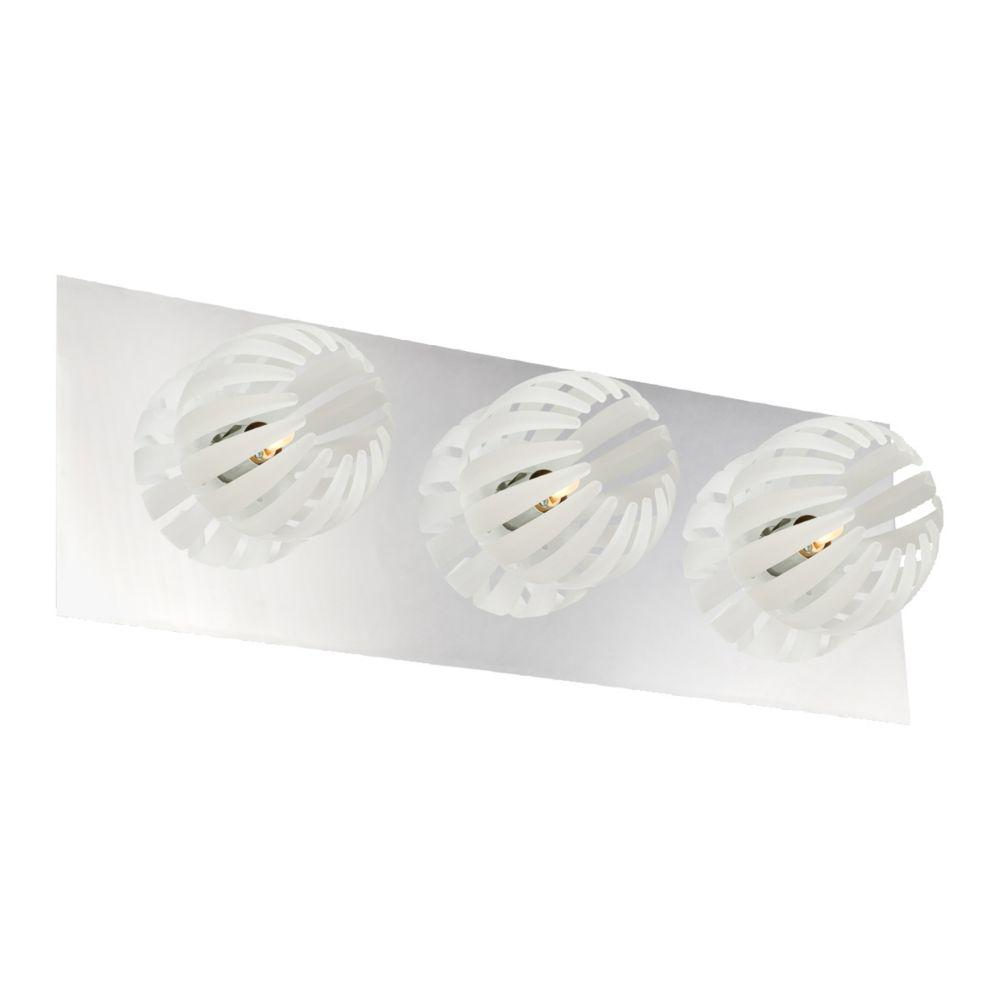 Cosmo Collection 3 Light Chrome & White Bathbar