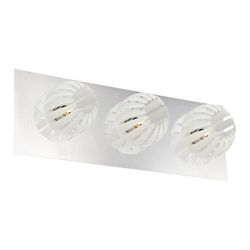 Eurofase Cosmo Collection 3 Light Chrome & White Bath Bar