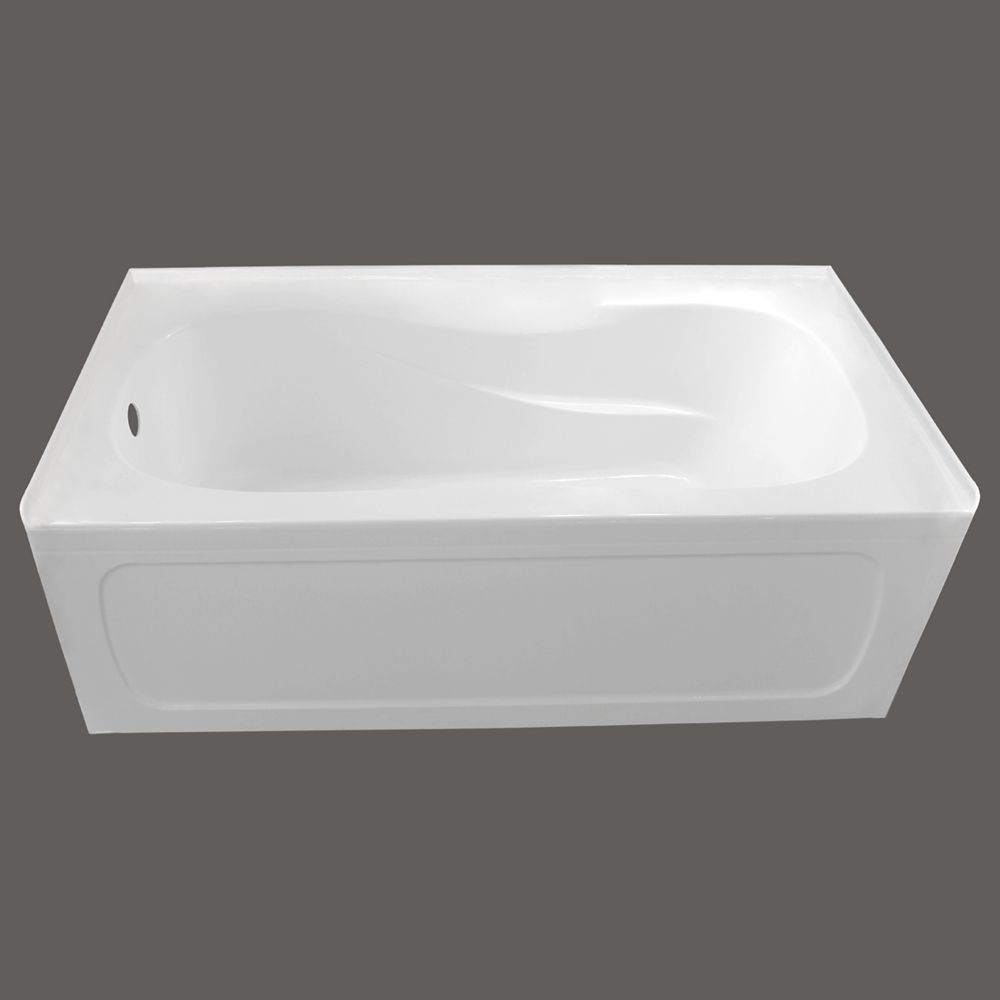 MAAX Cocoon 60 Inch x 30 Inch IFS White Soaker Bathtub with Left ...