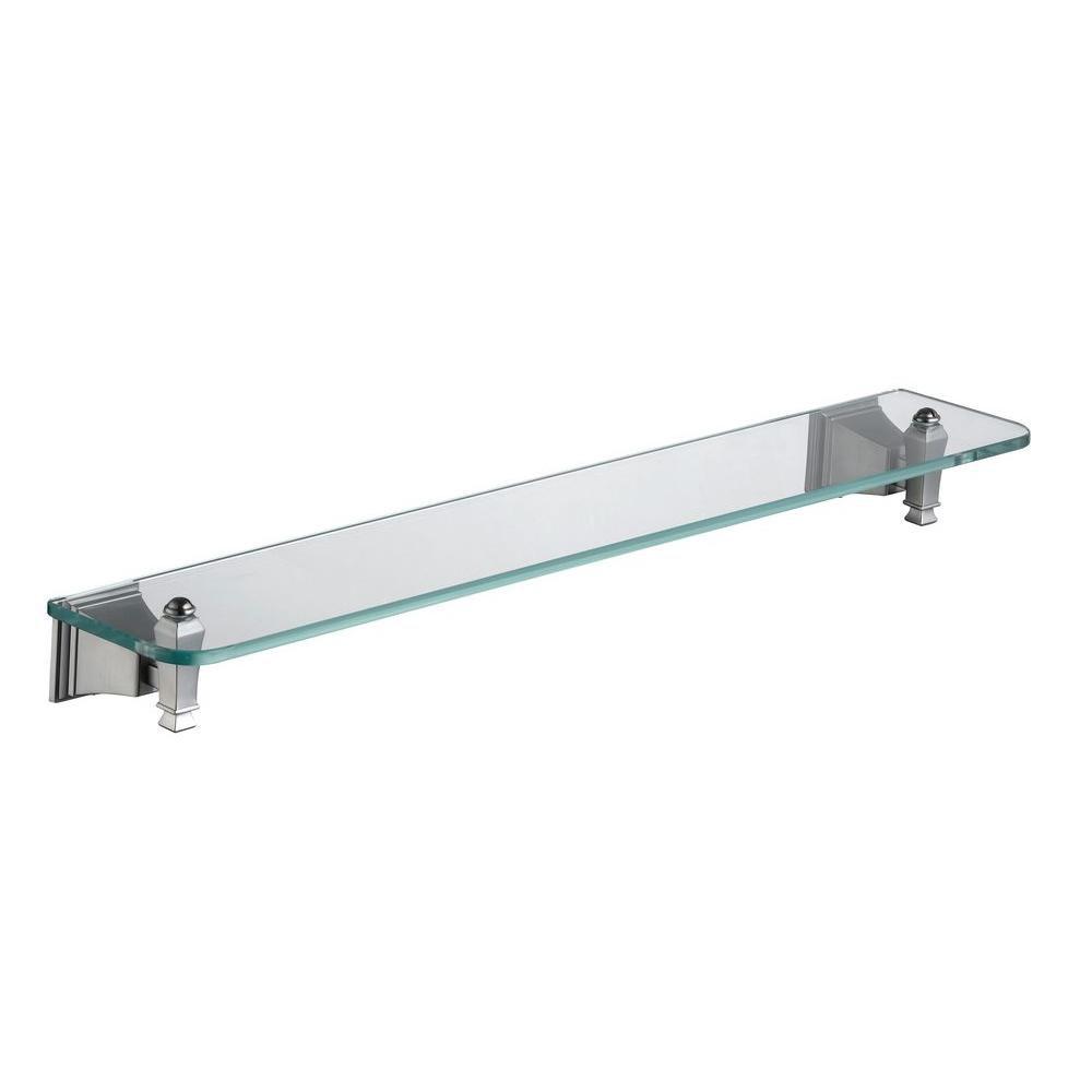 Exhibit Glass Shelf in Brushed Nickel