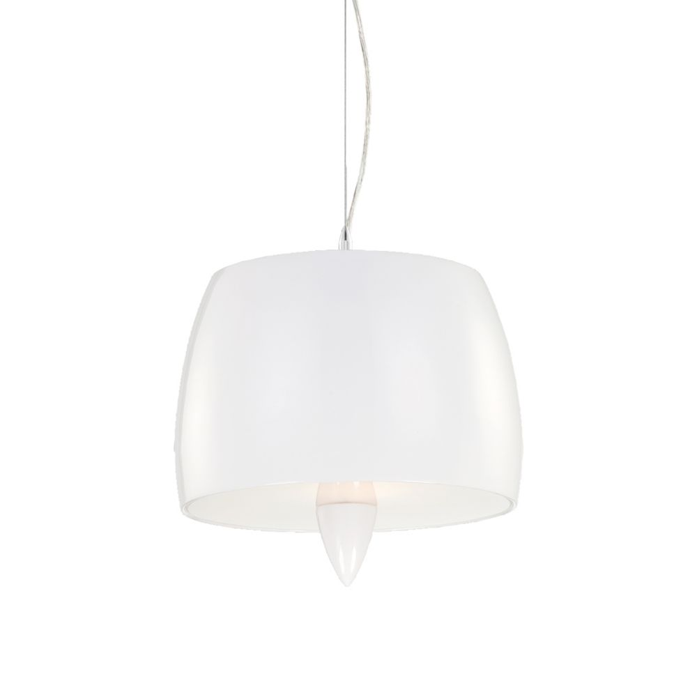 Lola Collection 1 Light White Pendant