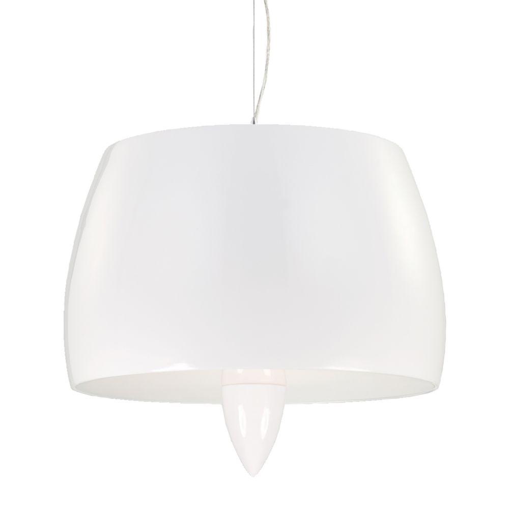 Lola Collection 4 Light White Pendant