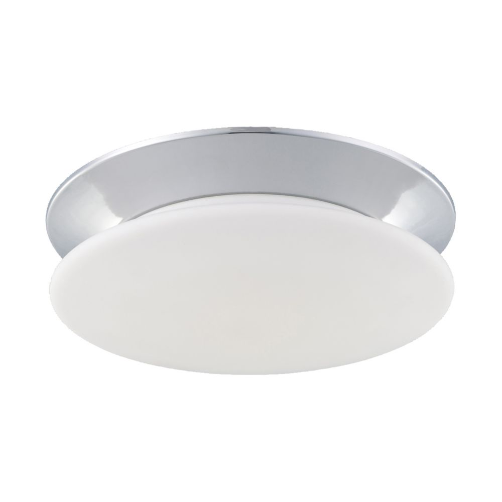 Crown Collection 1 Light Chrome Flushmount
