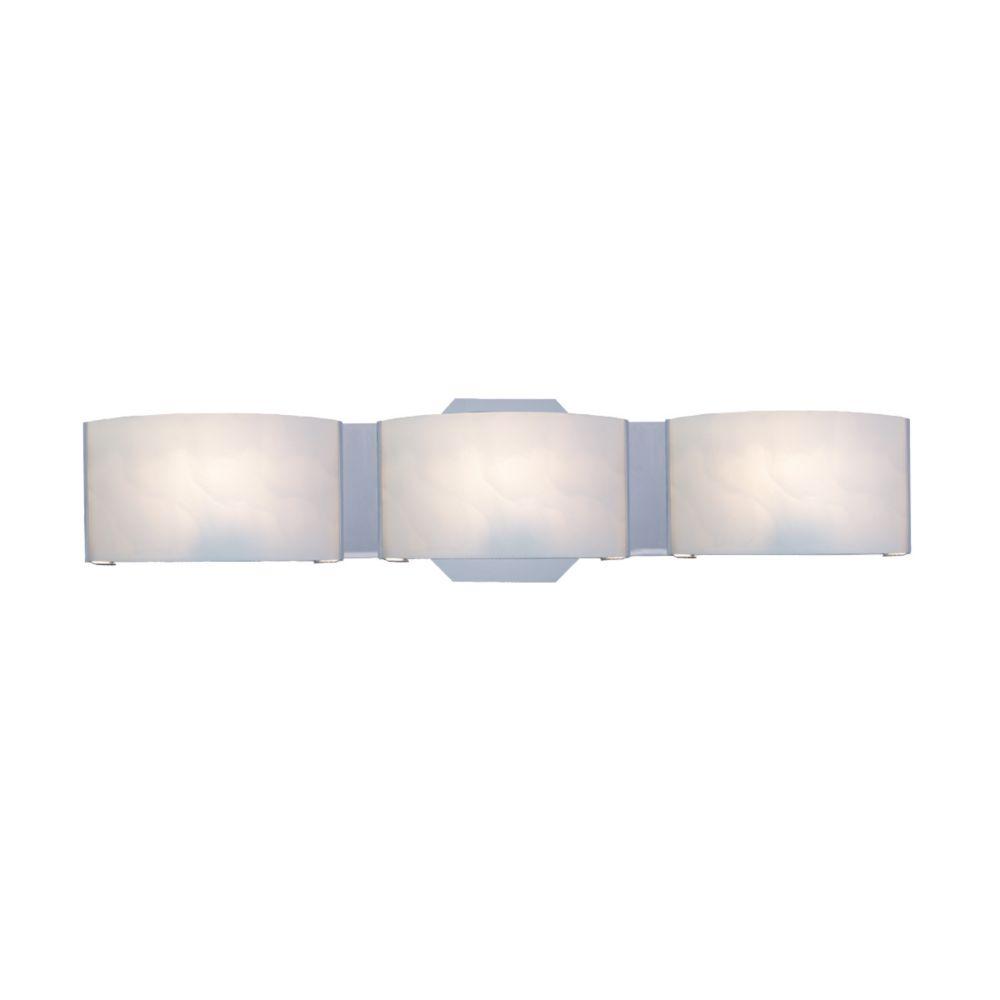 Eurofase Dakota Collection 3 Light Chrome Bath Bar