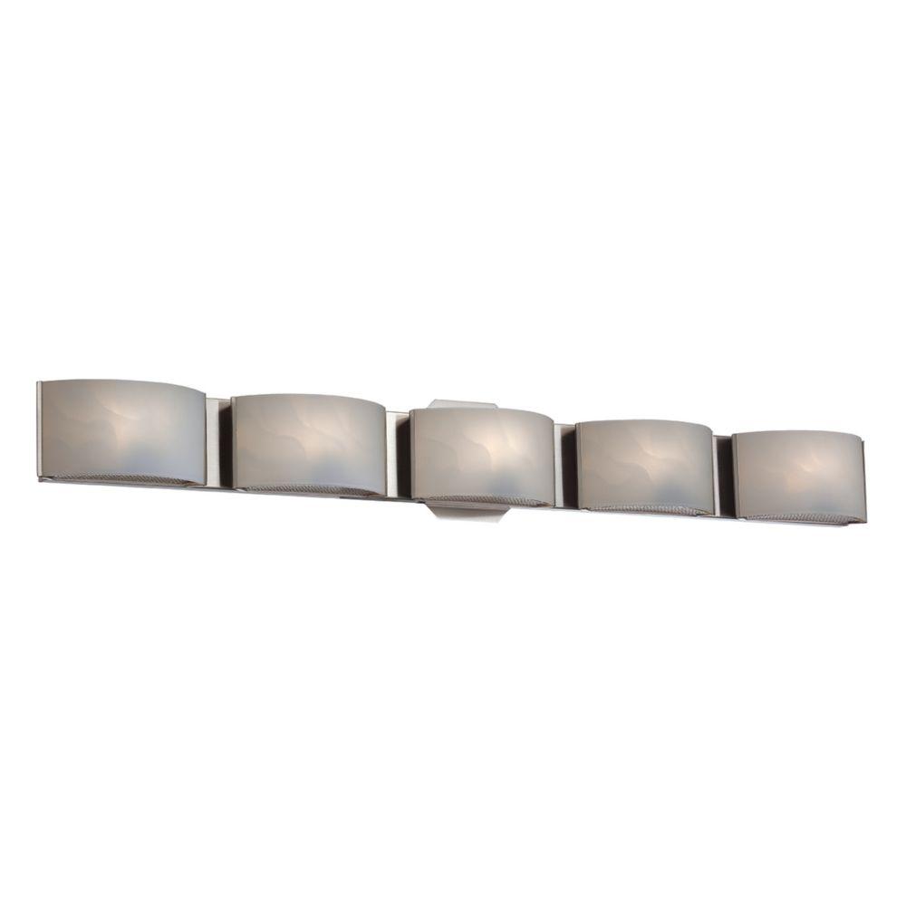 Eurofase Dakota Collection 5 Light Satin Nickel Bath Bar