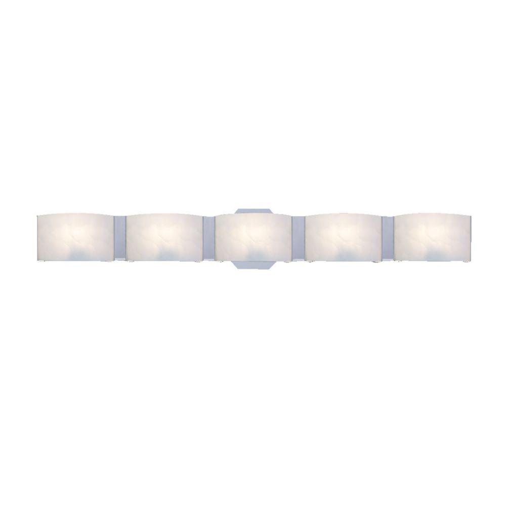 Eurofase Dakota Collection 5 Light Chrome Bath Bar