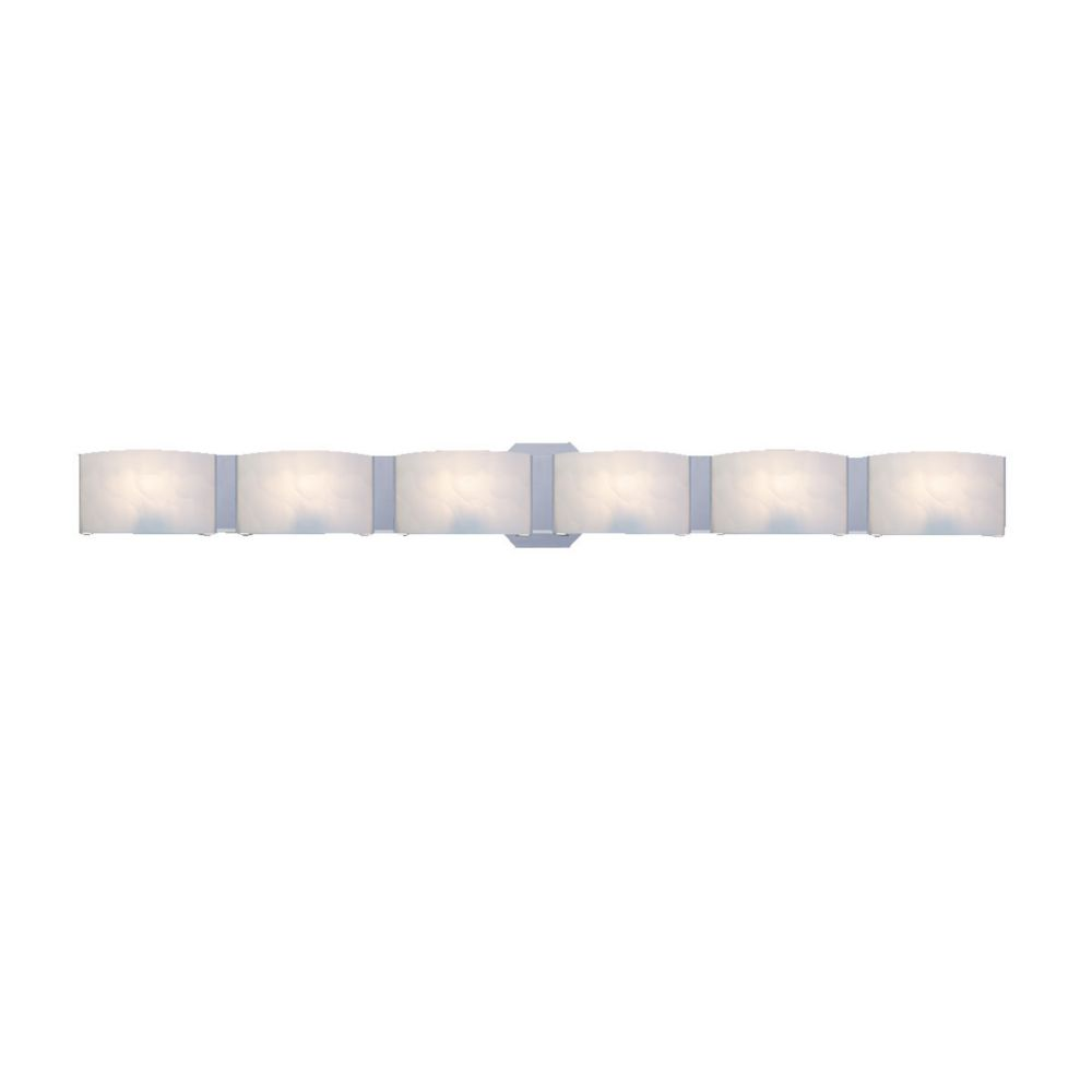 Dakota Collection 6 Light Chrome Bathbar