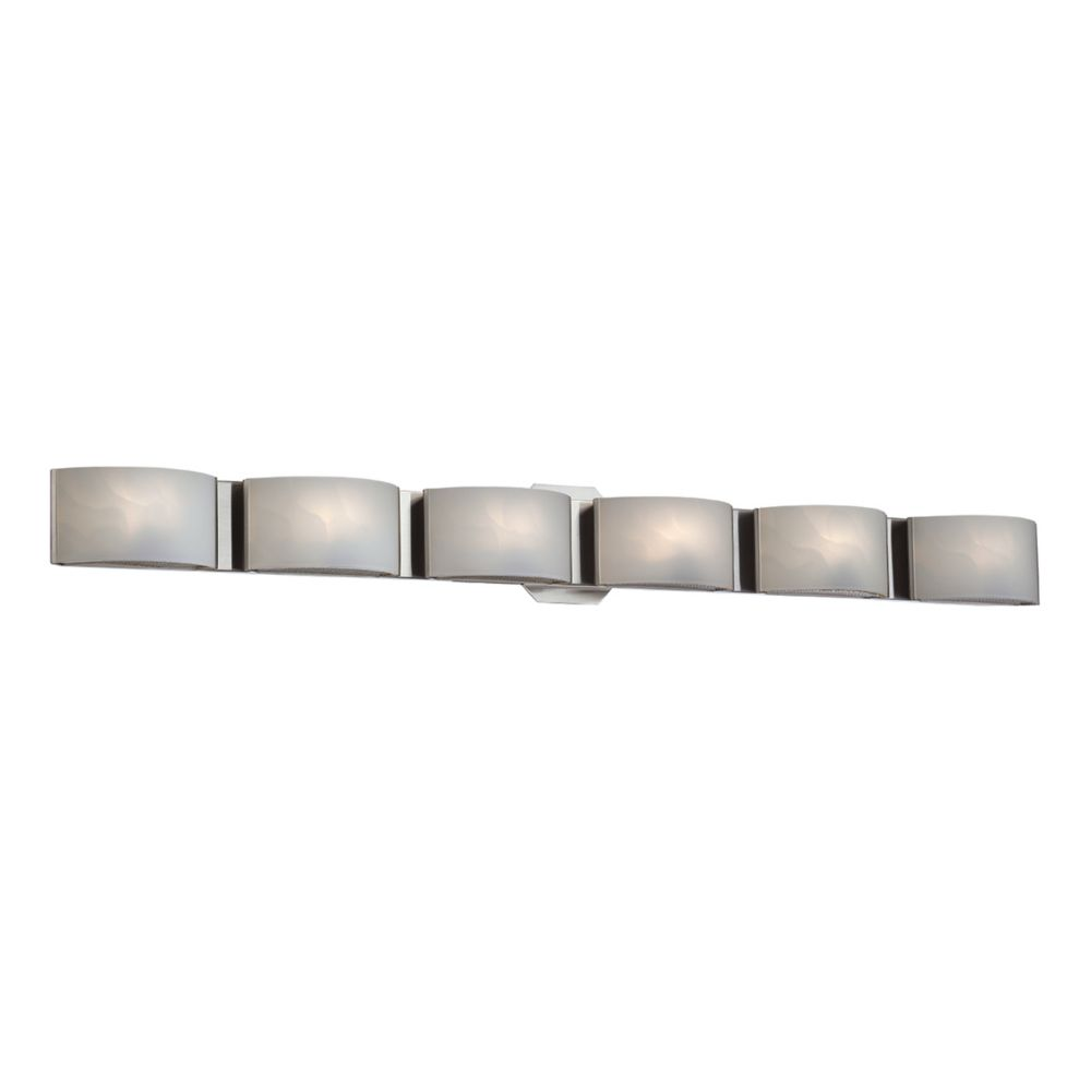 Dakota Collection 6 Light Satin Nickel Bathbar
