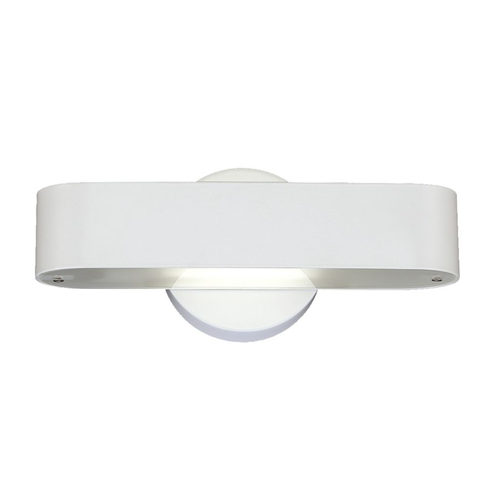 Dash Collection 1-light White Wall Sconce