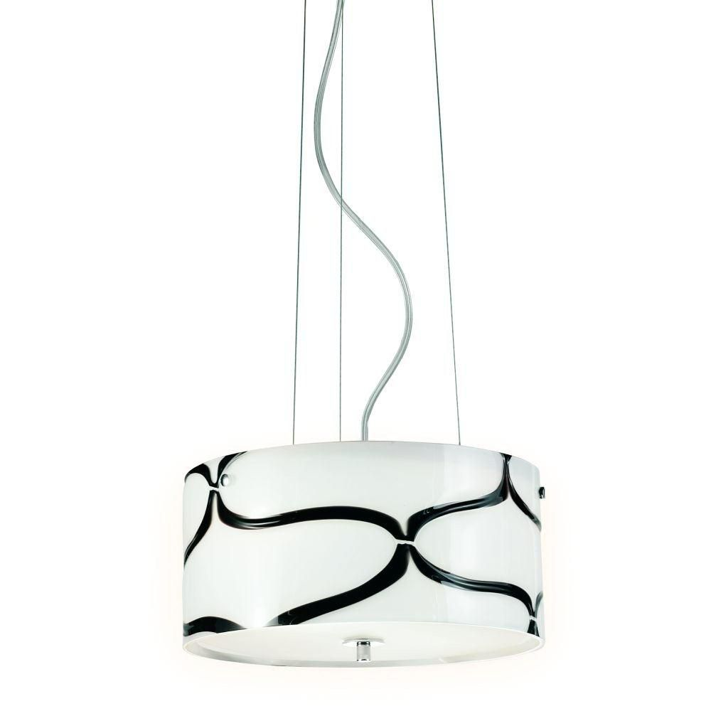 Davine Collection 2 Light Black & Chrome Pendant