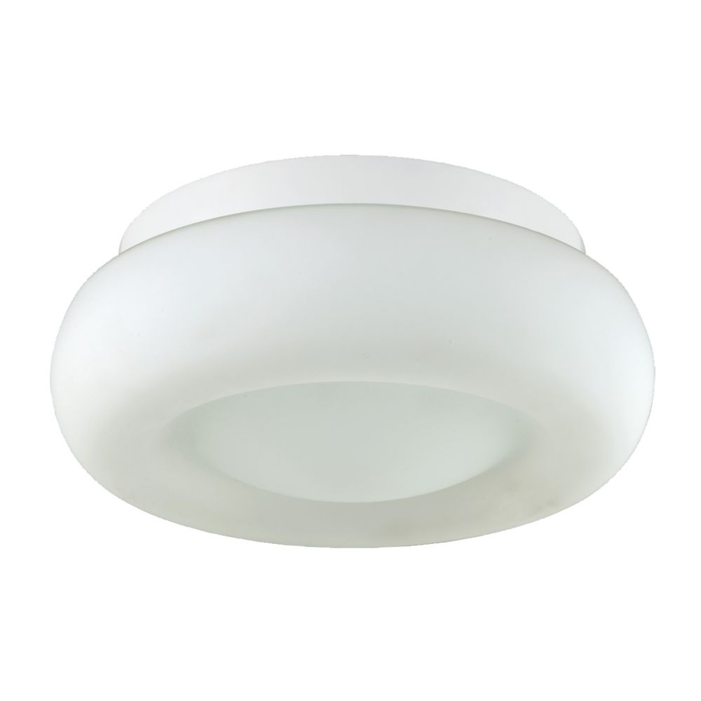 Disk Collection 1 Light White Flushmount