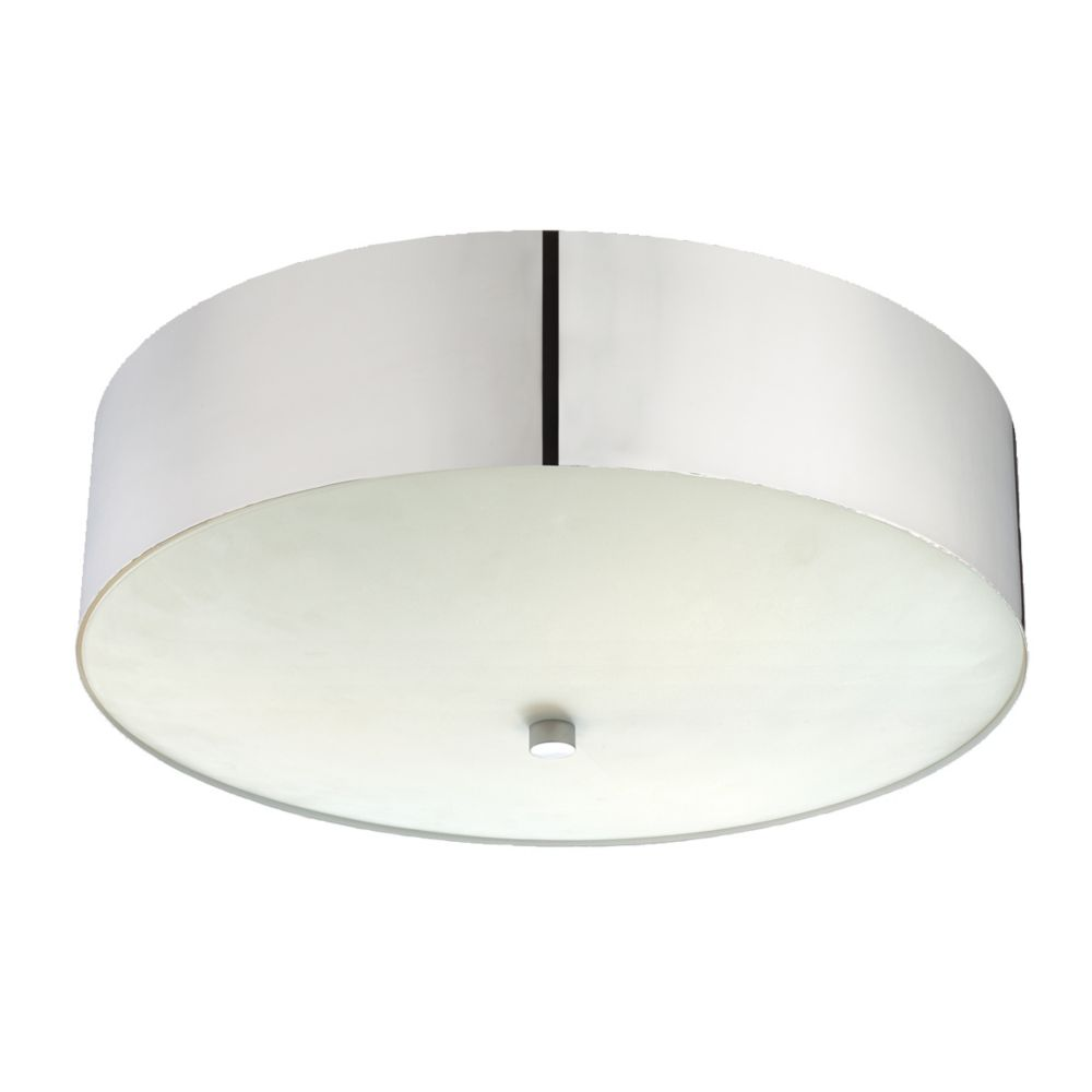 Element Collection 3 Light Polished Nickel Flushmount