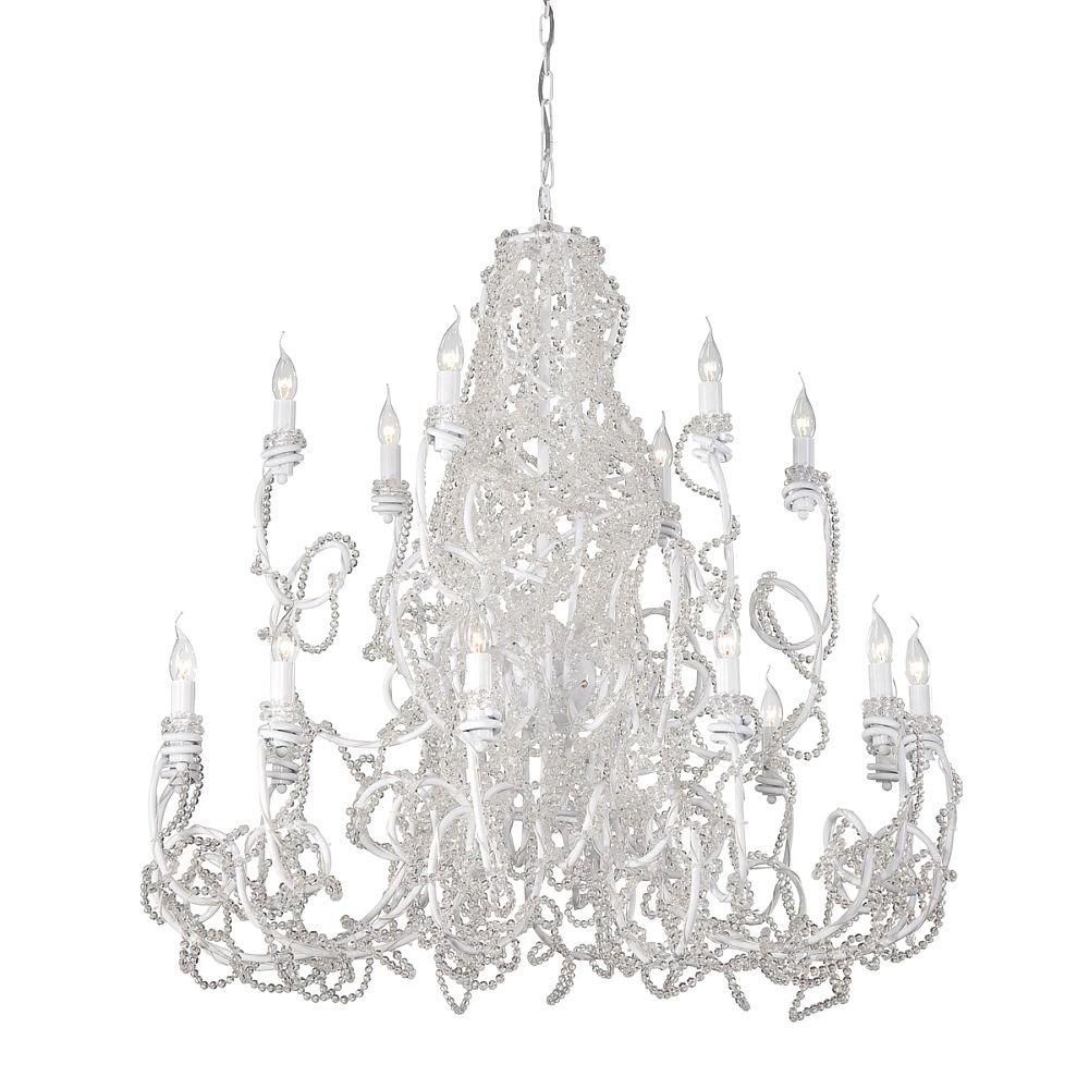 Fantasia Collection 18 Light Clear Chandelier