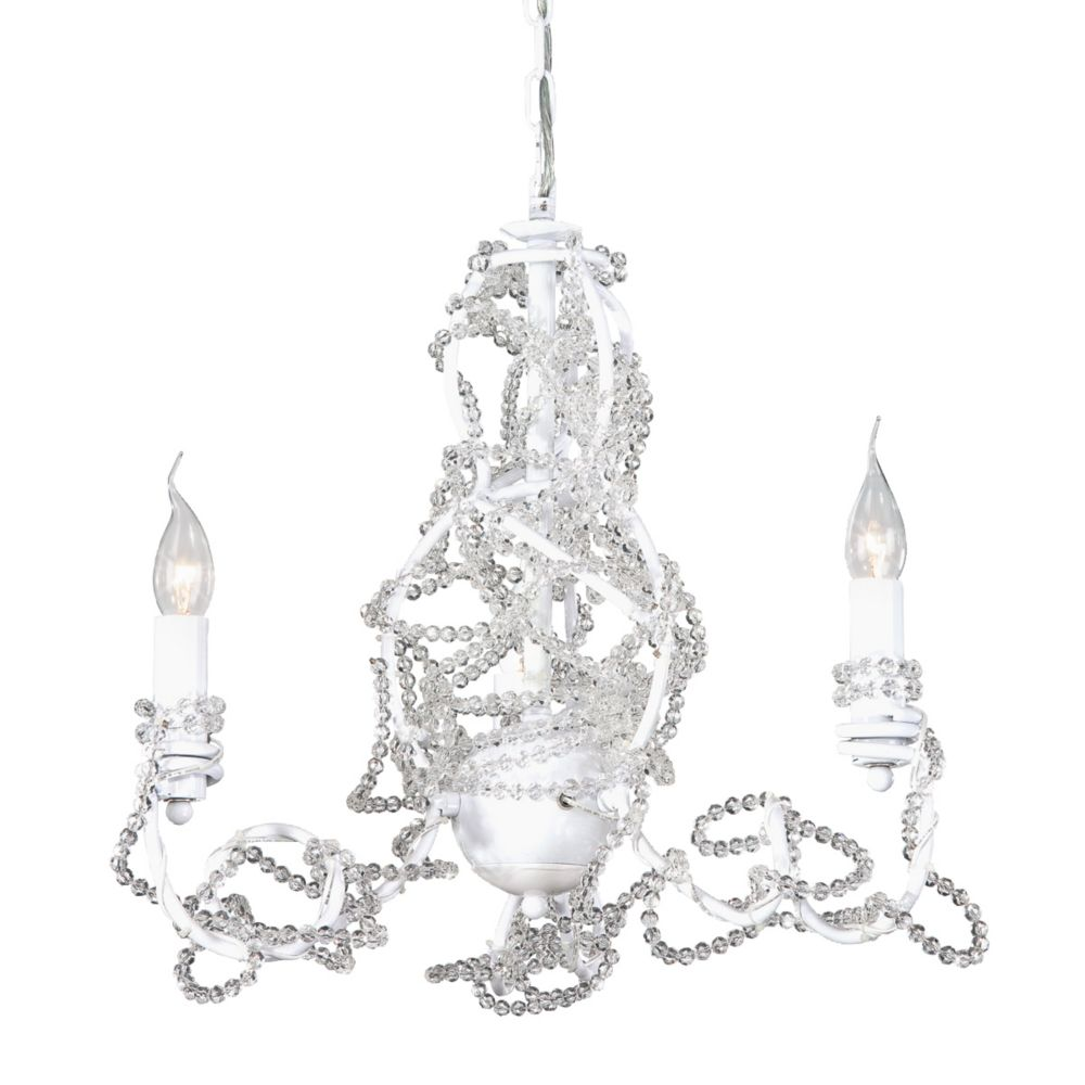 Fantasia Collection 3 Light Clear Chandelier