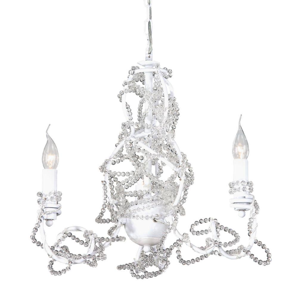 Eurofase Fantasia Collection 3 Light Clear Chandelier