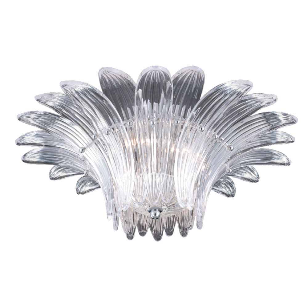 Fiore Collection 3 Light Clear Flushmount