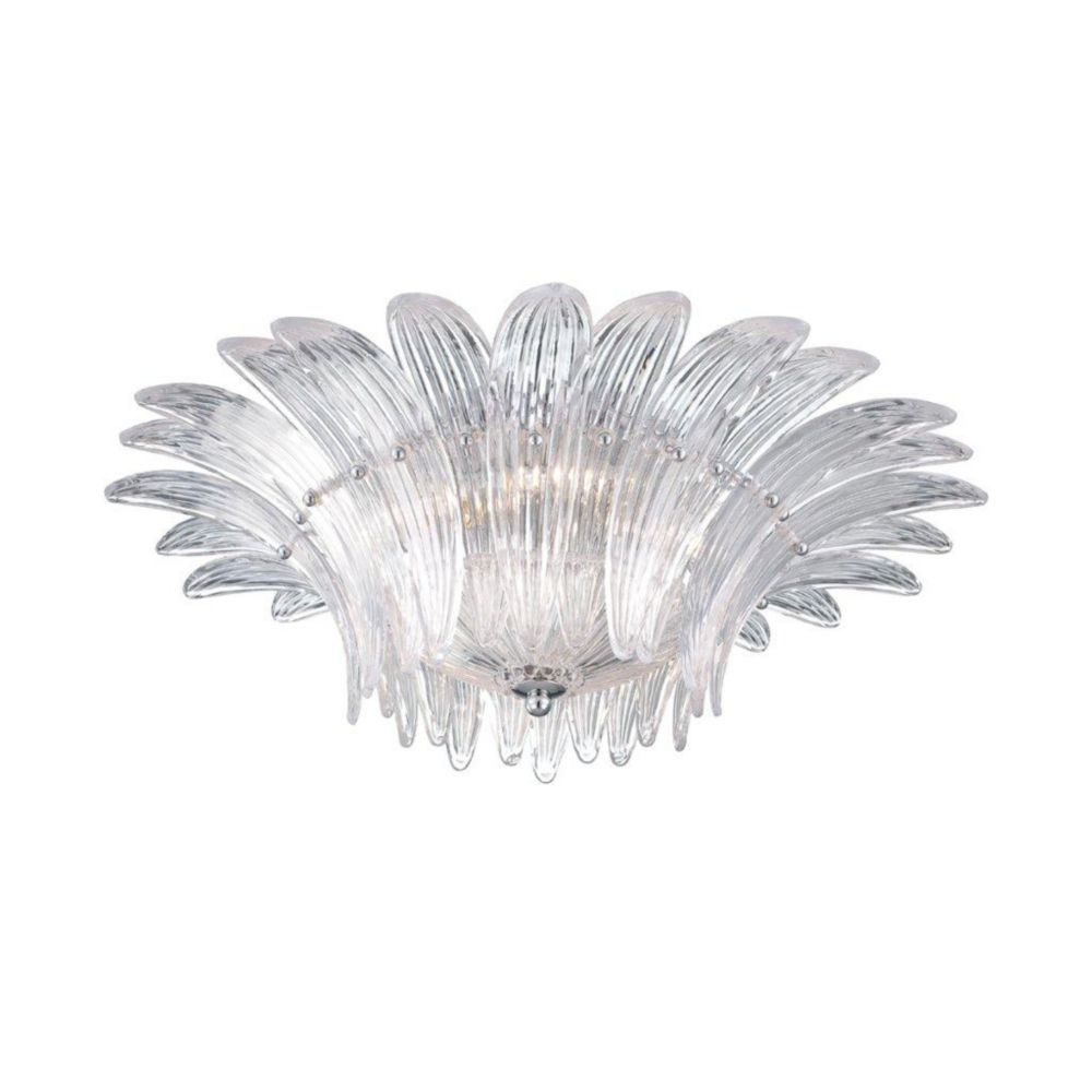 Fiore Collection 5 Light Clear Flushmount