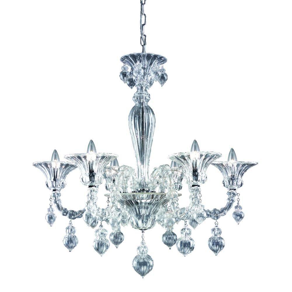 Firolia Collection 6 Light Clear Chandelier