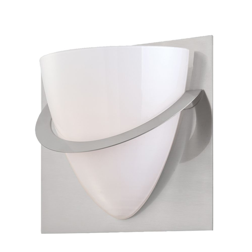 Forma Collection 1 Light Satin Nickel Wall Sconce