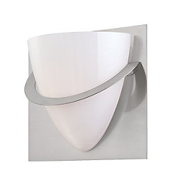 Eurofase Forma Collection 1 Light Satin Nickel Wall Sconce