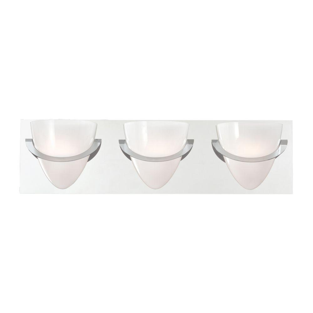 Forma Collection 3 Light Chrome Bathbar