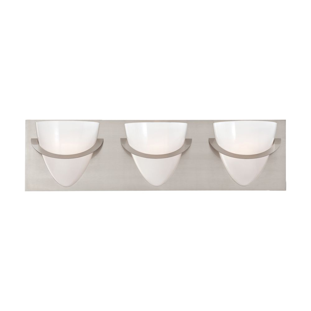 Eurofase Forma Collection 3 Light Satin Nickel Bath Bar