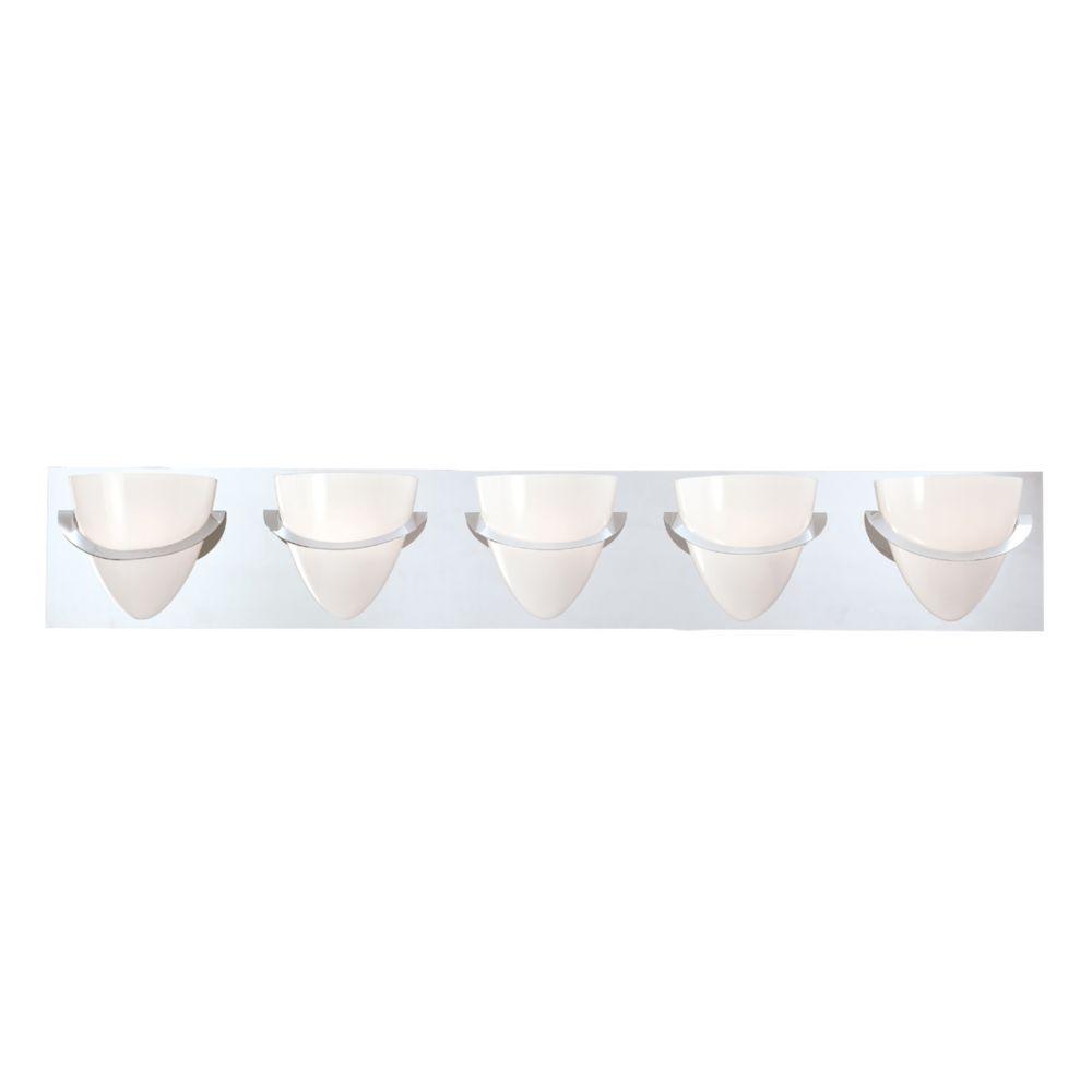 Eurofase Forma Collection 5 Light Chrome Bathbar