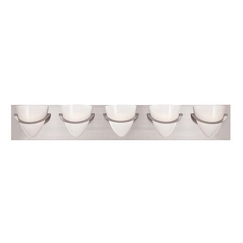 Eurofase Forma Collection 5 Light Satin Nickel Bath Bar
