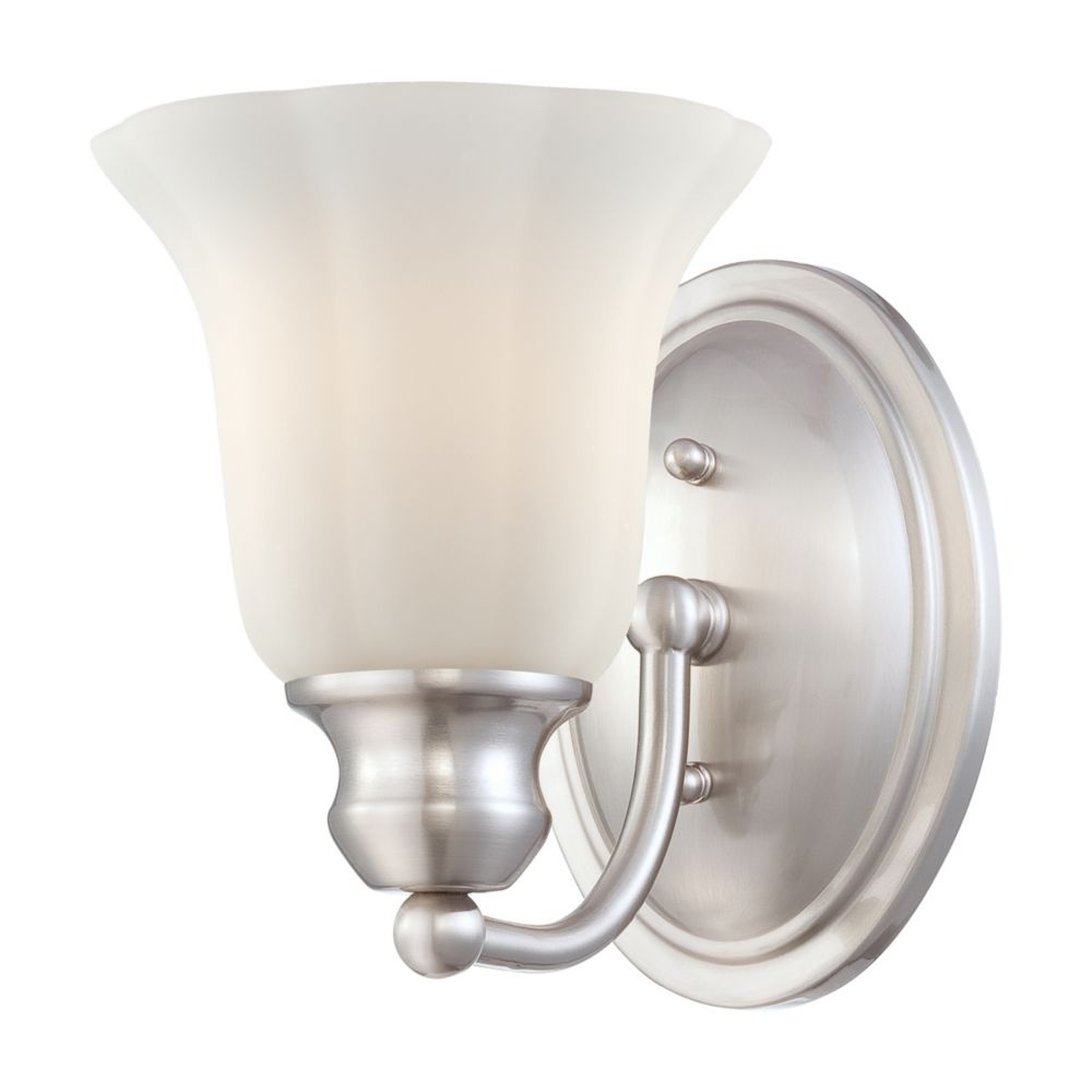 Fountaine Collection 1 Light Satin Nickel Wall Sconce