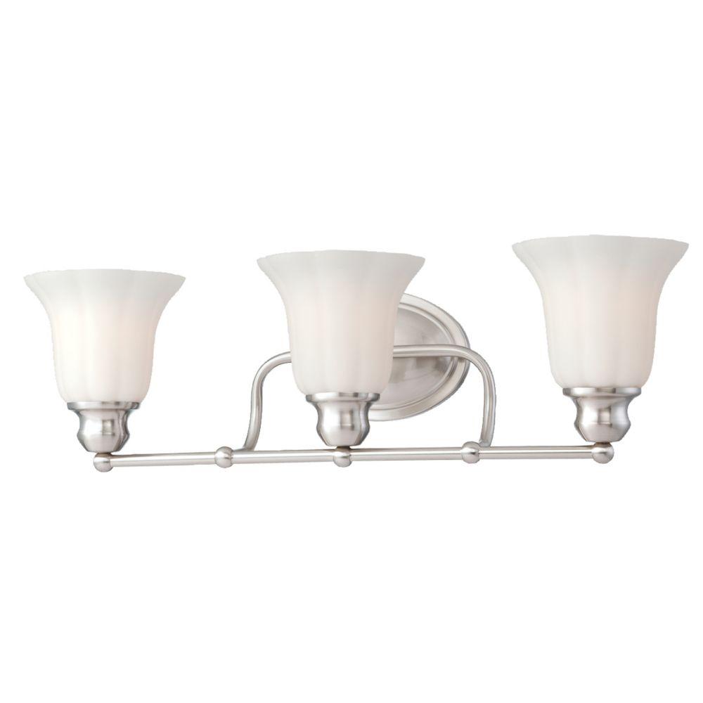 Fountaine Collection 3 Light Satin Nickel Bathbar