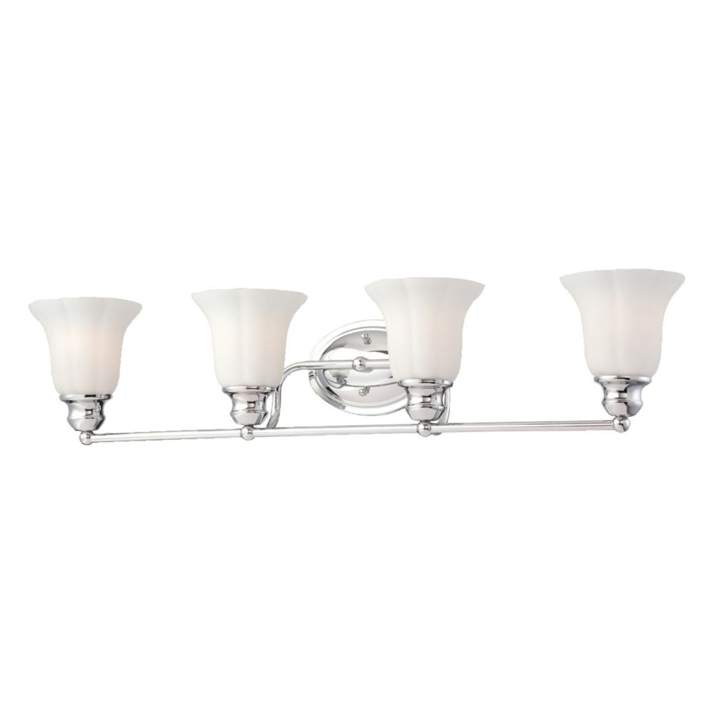 Fountaine Collection 4 Light Chrome Bathbar