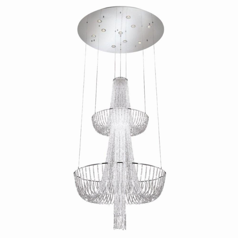 Gala Collection 10 Light Chrome Chandelier