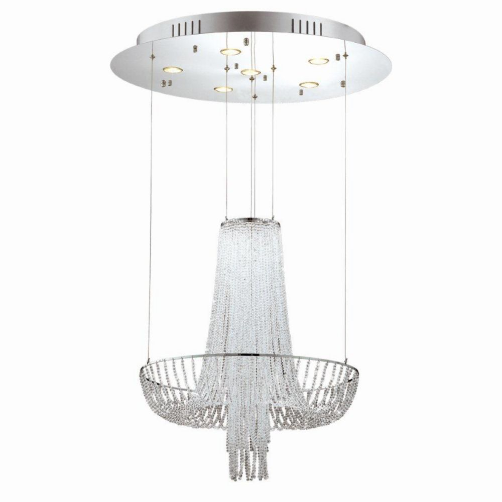 Gala Collection 6 Light Chrome Chandelier
