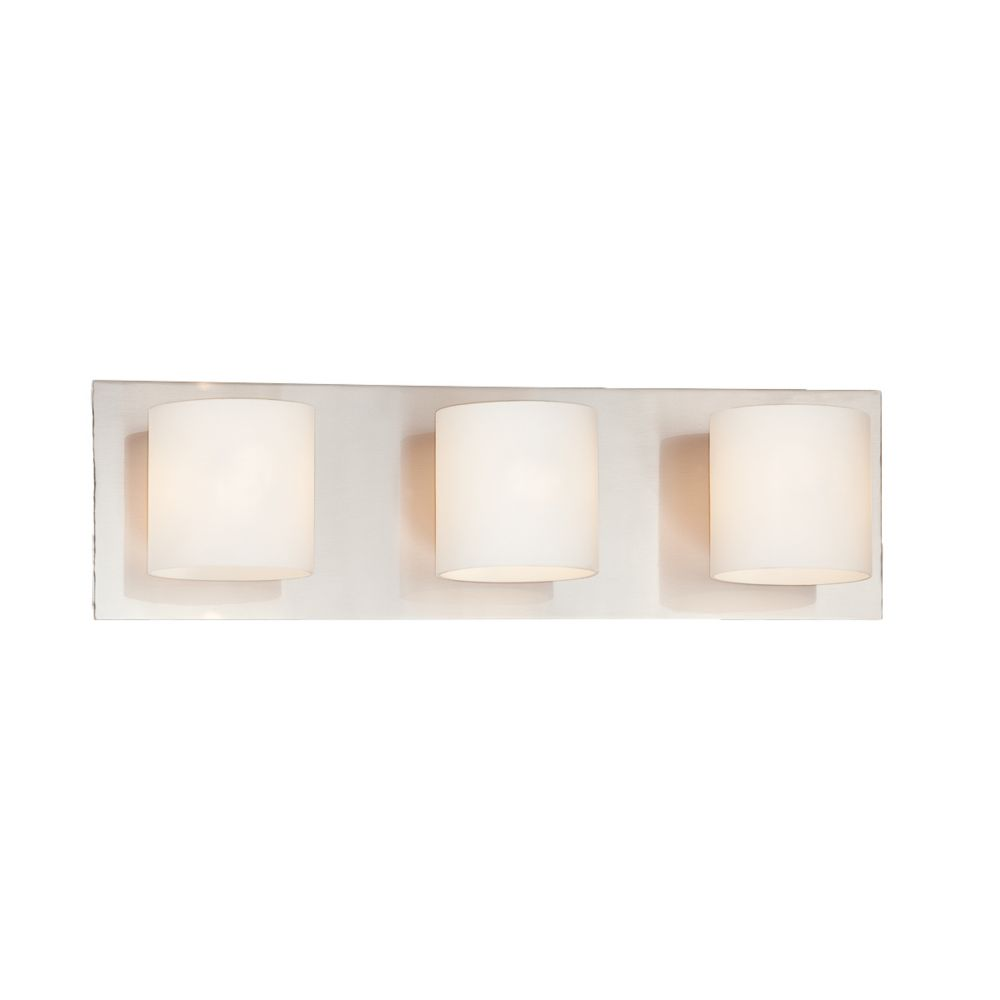 Geos Collection 3 Light Satin Nickel Bathbar