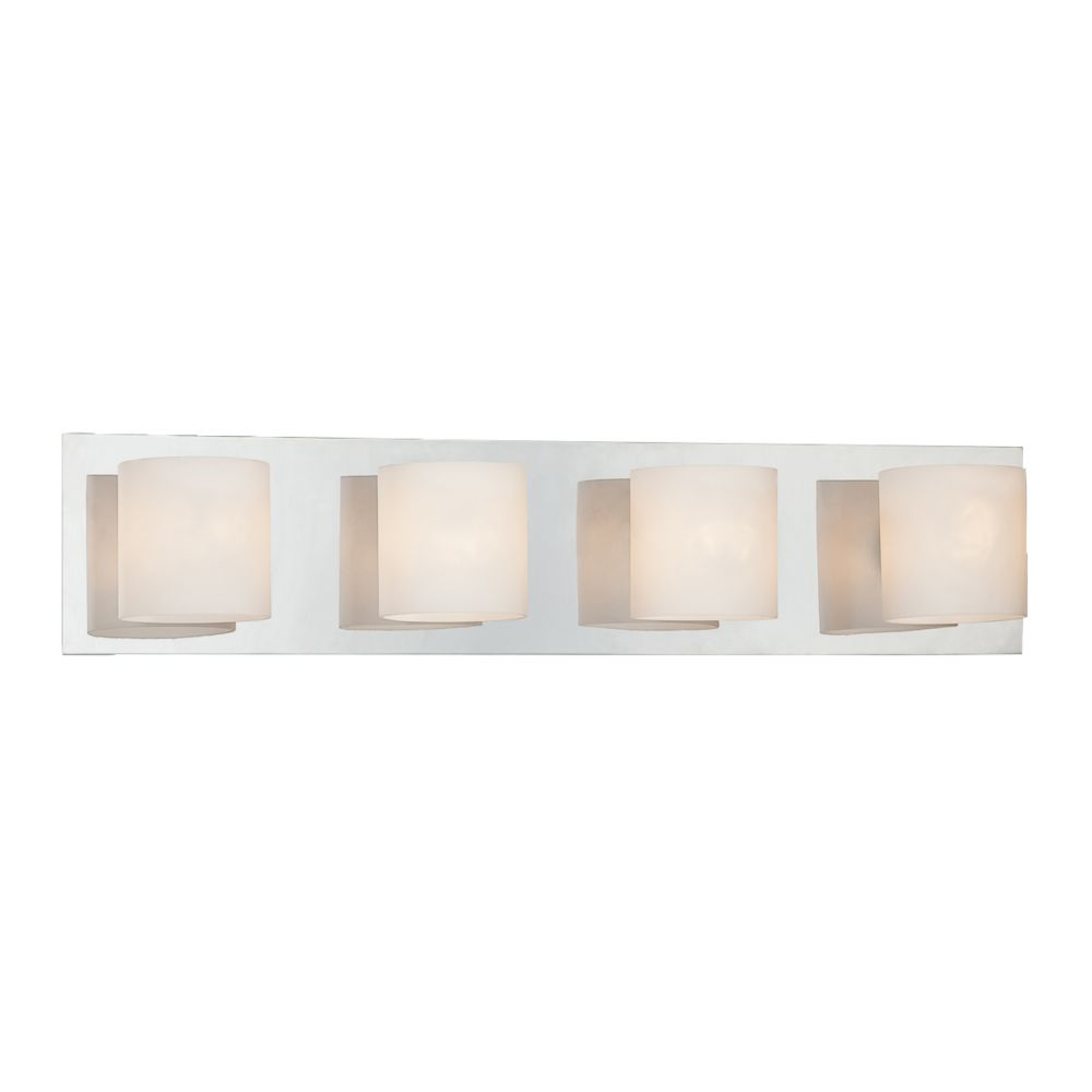 Geos Collection 4 Light Chrome Bathbar