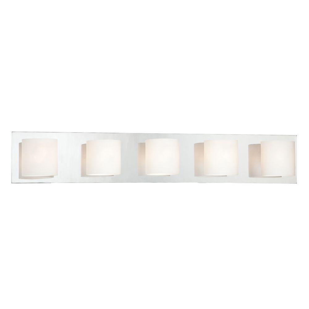 Geos Collection 5 Light Chrome Bathbar