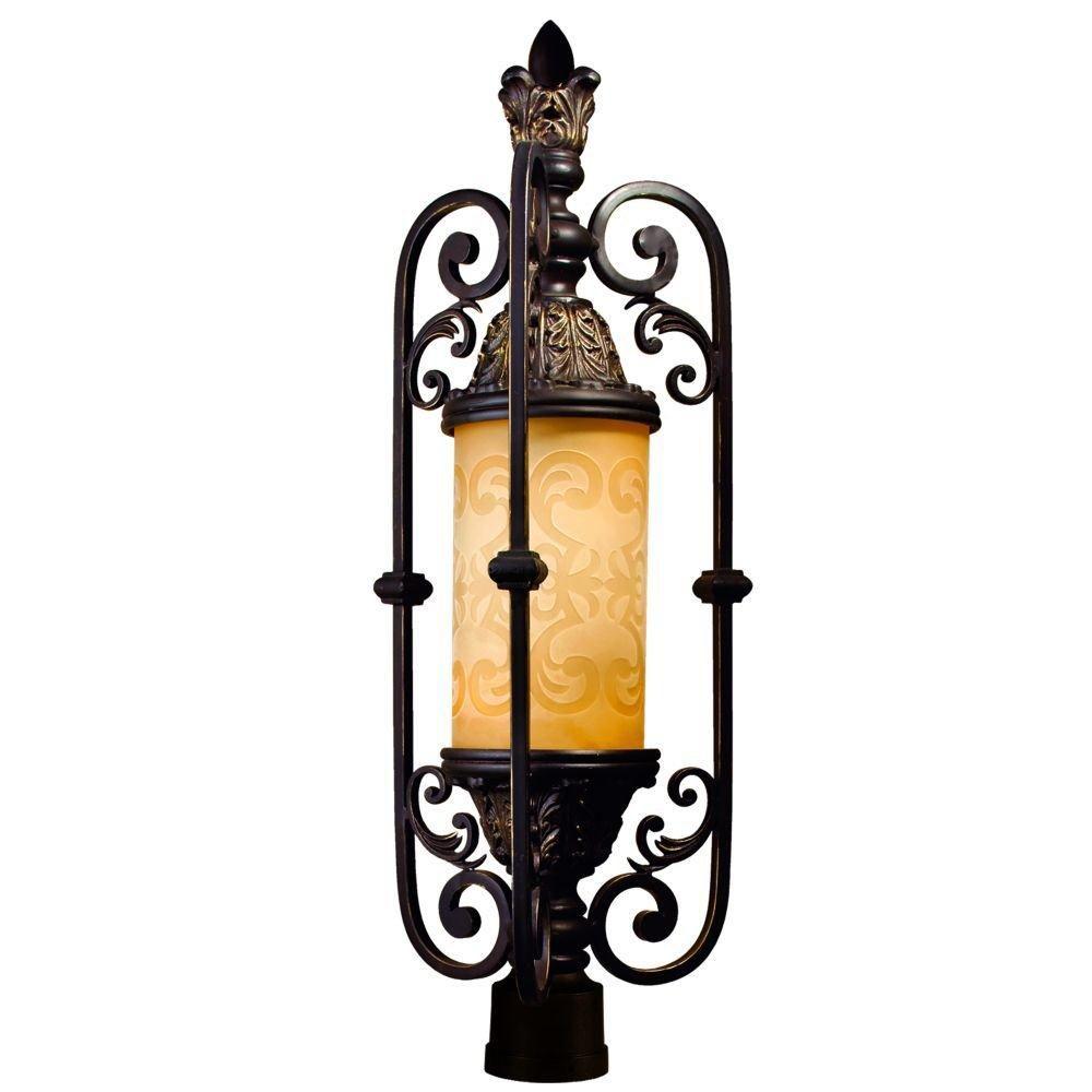 Luminaire  de Poteau à 1 Lumière, Collection Glenhaven