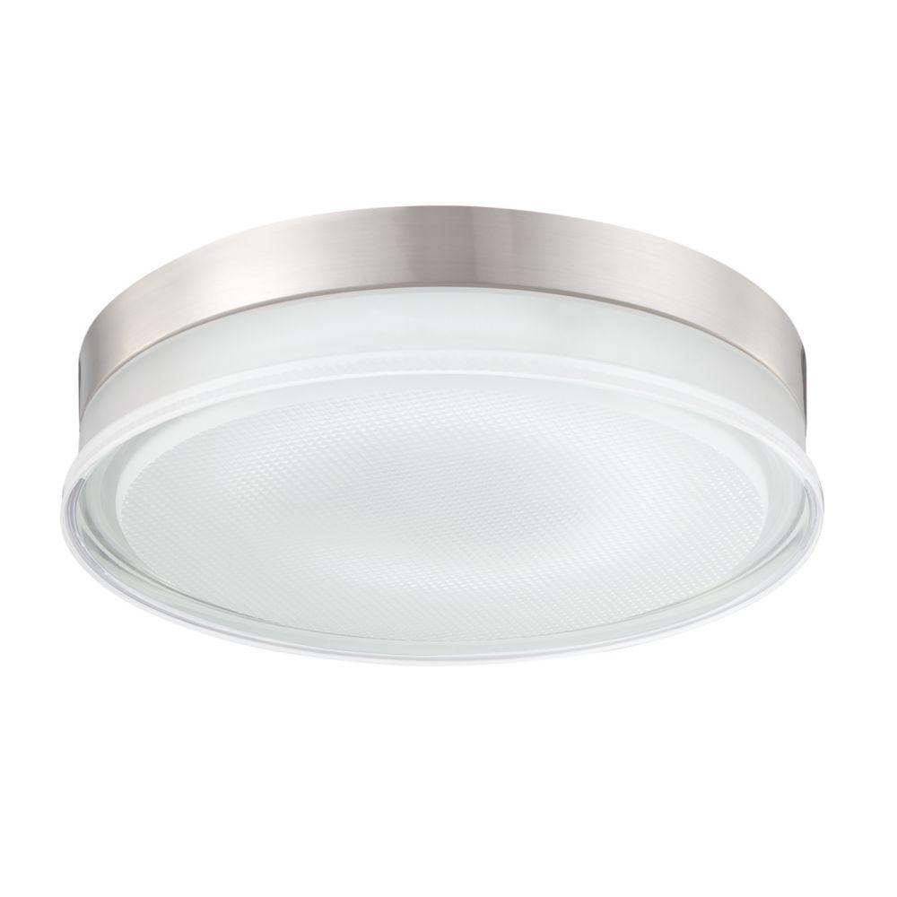 Halo Collection 1 Light Satin Nickel Flushmount