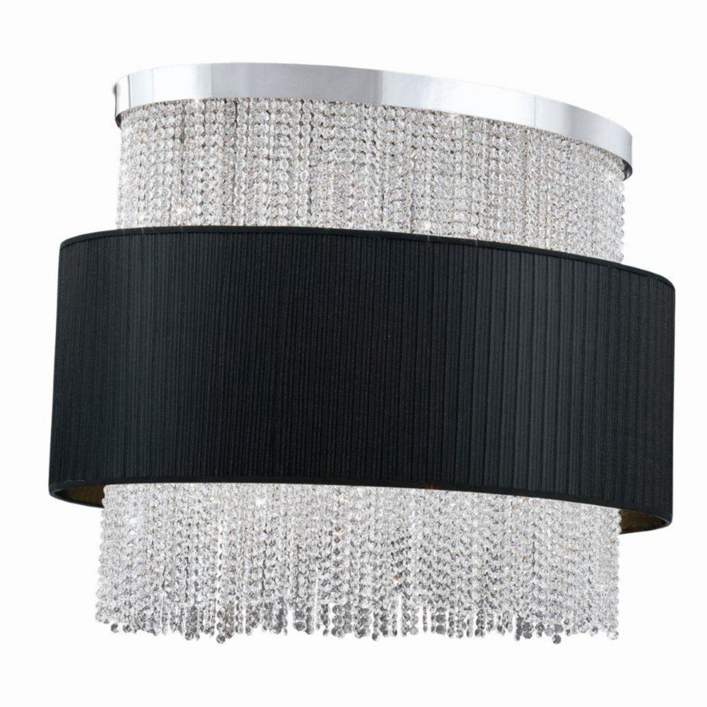 Harmoni Collection 12 Light Oval Chrome & Black Pendant