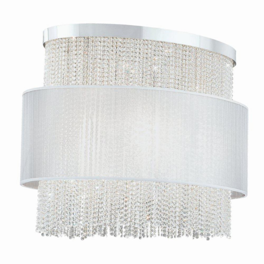 Harmoni Collection 12 Light Oval Chrome & White Pendant