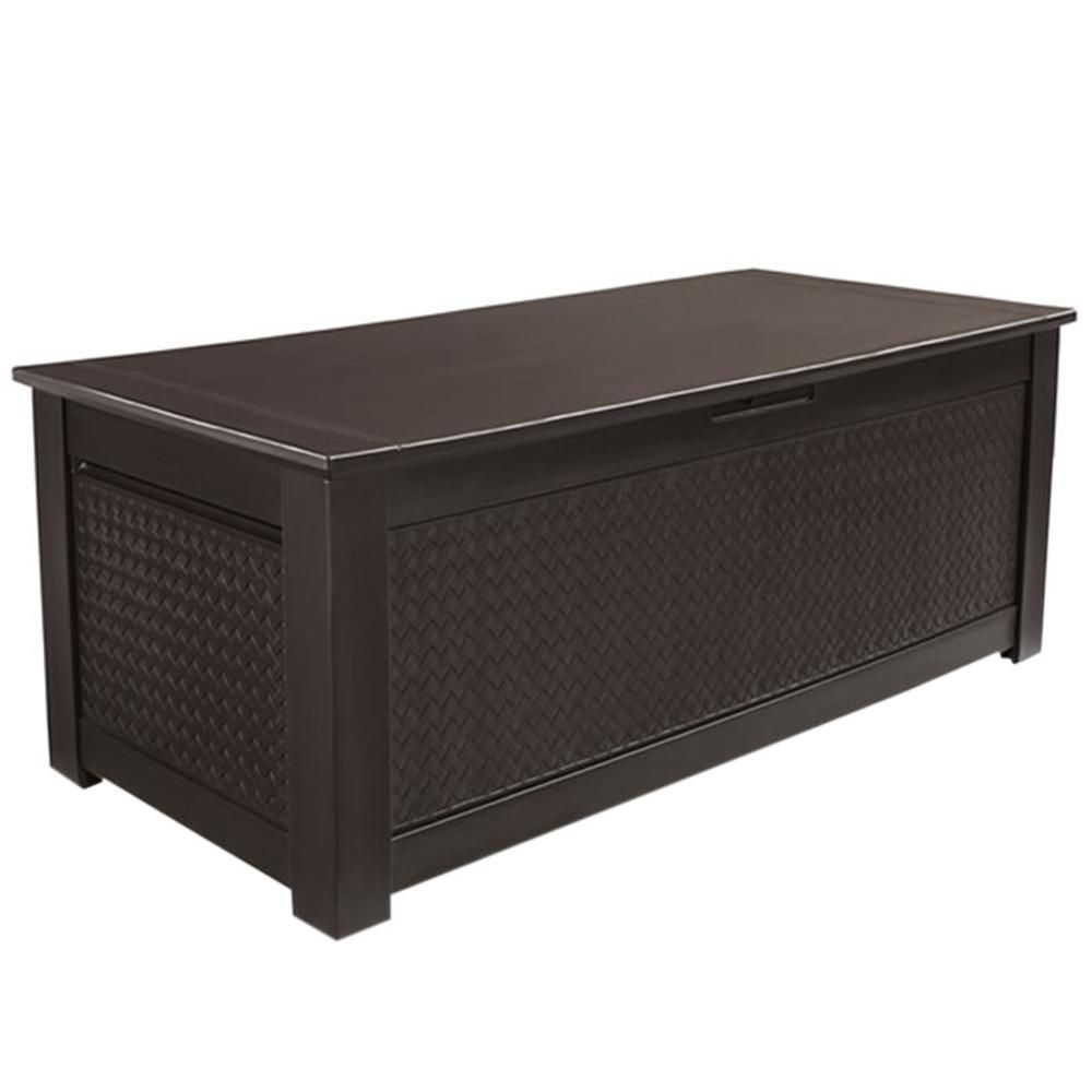 Rubbermaid storage trunk 18 2 cu ft the home depot - Pouf coffre de rangement ...