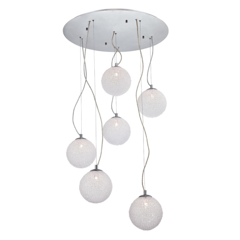 Melody Collection 6 Light Chrome Pendant